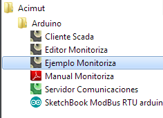menu inicio Monitoriza Arduino